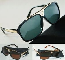 New Hip Hop Rapper Evidence Sunglasses w/ Gold Metal _ Black or Brown or White