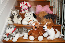 x8 Lot BUILD A BEAR Plush DOGGY PUPPY DOG PUP Doll Stuffed Animal Store Kids Toy