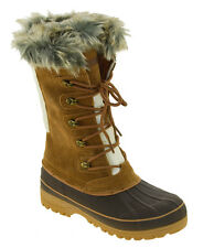 Khombu Women's Waterpoof Winter Boots Tan Nordic 2