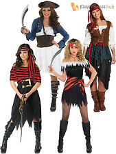 Ladies Caribbean Pirate Wench Fancy Dress Outfit Womens Adults Sexy Costume