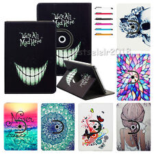 """360 Rotating Stand PU Leather Case Cover For 9.7"""" 10'' 10.1'' Tablet PC+Stylus"""