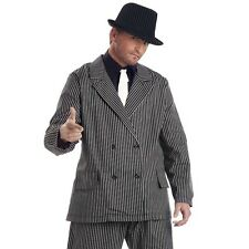 Mens 1920s Gangster Suit Costume 20s Chicago Mobster Criminal Party Outfit