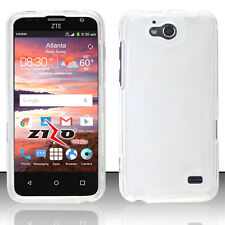 For ZTE Overture 2 HARD Protector Case Snap on Phone Cover Crystal Clear