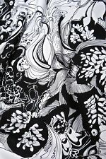 Black White & Metallic Silver by FabriQuilt, Cotton Fabric