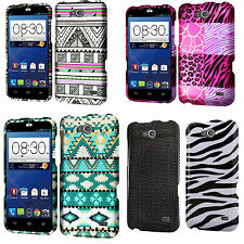ZTE Overture 2 Rubberized Hard Protector Case Snap Phone Cover +Screen Protector