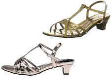 Annie Shoes Enrica Strappy Slingback Sandals w/ Rhinestone Embellishments NEW