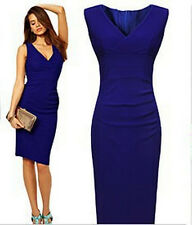 Women Sexy Slim Bodycon Cocktail Evening Party Mini Dress Blue Bandage Ball Gown