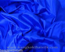 COBALT BLUE 100% AUTH PURE SILK FABRIC BRIDESMAID DRESS DRAPE QUILT WEDDING