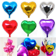 "5/10X 10"" Heart Foil Helium Balloons Wedding Party Engagement Birthday Decor"