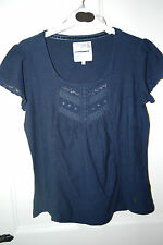 New John Rocha RJR Designer Navy or Pink  Embellished Cotton Tunic Top 12- 20