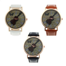Retro Women men Unisex wrist Watch Violin Faux Leather Analog Quartz Watch 2015