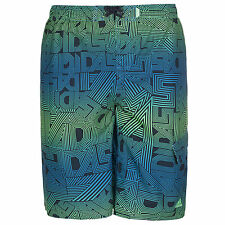 adidas ESSENTIALS BOYS BOARD SHORTS GREEN BLUE SWIMMING SIZES 5 - 16 YEARS OLD