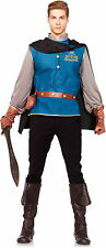 Mens Storybook Prince Charming Knight in Armor Oufit Halloween Fancy Costume NEW