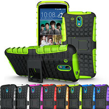 Rugged Armor Hybrid Case Stand Hard Shockproof Cover Skin For HTC Desire 526G