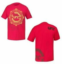 Adult Men's UFC Ultimate Fighting Championship Gears Retro Logo Red T-shirt Tee