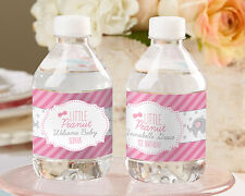 24 Personalized Little Peanut Elephant Water Bottle Labels Baby Shower Favors