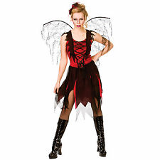 Adults Goth Vamp Fairy Vampire Horror Scary Fancy Dress Up Party Costume Outfit