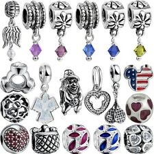 New Style European Silver Charm Bead Charm Fit 925 Necklace Bracelet Chain