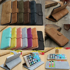 "Real Cowhide Leather Wallet Card Stand Case Cover For iPhone 6 4.7""/6 Plus 5.5"""