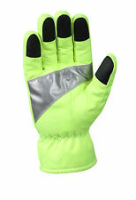 5487 Rothco Safety Green Gloves With Reflective Tape