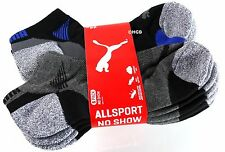 New Puma Mens 6 Pair Premium No Show AllSport Socks Shoe Sizes 6-16 Extended