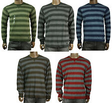NEW MENS TIMBERLAND CREW NECK COTTON STRIPE PULLOVER SWEATER