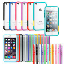 For iPhone 6 Plus 5S SE 5C Hybrid Hard Clear Back Slim Bumper Case Cover Skin