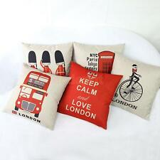 Cartoon England Cotton Linen Throw Pillow Case Cushion Cover Sofa Bed Home Decor
