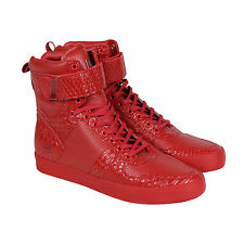 Radii Vertex Mens Red Leather High Top Lace Up Sneakers Shoes