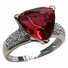 IMPRESSIVE 5 CT RUBY 925 STERLING SILVER RING SIZE 5-10