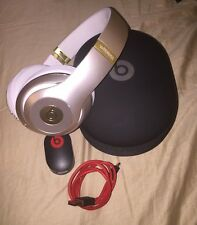BEATS BY DRE STUDIO WIRELESS HEADPHONES CHAMPAGNE GOLD/WHITE BLUETOOTH