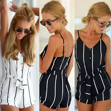 Summer Women Clubwear V Neck Playsuit Bodycon Party Jumpsuit Romper Trouser Pant
