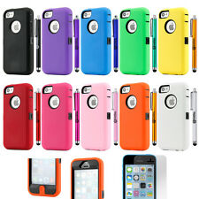 Heavy Duty Shockproof Rugged Hybrid Hard Case Cover For Apple iPhone 5C
