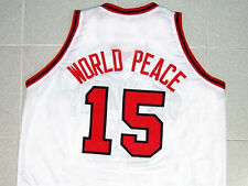 METTA WORLD PEACE RON ARTEST JOHN'S UNIVERSITY JERSEY WHITE NEW ANY SIZE S - 5XL