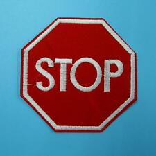 1 Stop Traffic Sign Iron on Sew Patch Applique Badge Embroidered Biker Applique