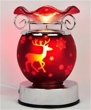 CHRISTMAS DESIGNS ELECTRIC TART BURNER OIL WARMER TOUCH CONTROL DIMMER 4 DESIGNS