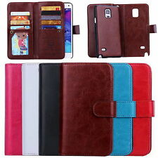 For Samsung Galaxy S5/Note 4 Top Quanlity Leather Wallet+phone Case Cover Skin
