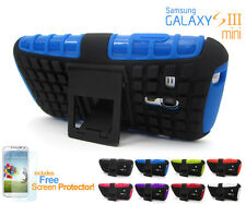 Heavy Duty Shock-Resistant Durable Case Cover  Stand For Samsung Galaxy S3 Mini