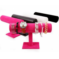 Fashion Velvet Bangle Bracelet Jewelry Watch T-Bar Display Stand Holder Rack