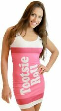 Juniors Tootsie Roll Fruit Rolls Candy Cherry Pink Costume Tank Dress
