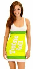 Juniors Tootsie Roll Fruit Rolls Candy Lime Green Costume Tank Dress