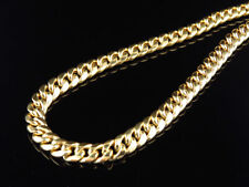Genuine 10K Yellow Gold Hollow Miami Cuban Link 6MM Chain Necklace  24-36 Inch