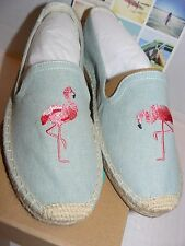 NEW Soludos Smoking Slipper With FLAMINGO Embroidery (Choose Size)