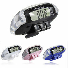 Digital Large LCD Pedometer Distance Calorie Counter Run Step Walking With Clip