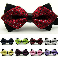Fashion Mens Sharp Corner Bowtie Adjustable Formal Wedding Party Bow Tie Gift