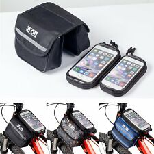 Cycling Bike Bicycle Frame Pannier Front Pouch Saddle Double Bag Phone Holder