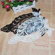 Hot 2 Colors Lace Flower Venise Motif Collar Trim Applique DIY Sewing Craft A80