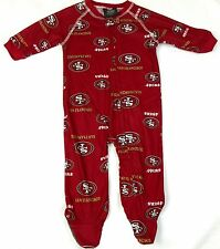 San Francisco 49ers Infant Coverall NFL Football Baby Zip Footed Sleeper Pajamas