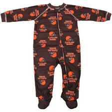 Cleveland Browns Infant Coverall NFL Football Baby Full Footed Sleeper Pajamas
