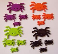 4 SIZES-4 COLORS FLAT SPIDER NOVELTY BUTTONS/HALLOWEEN/CRAFTS